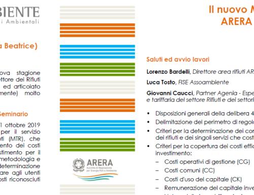 Seminario – Il nuovo metodo tariffario di ARERA per la regolazione del settore dei rifiuti