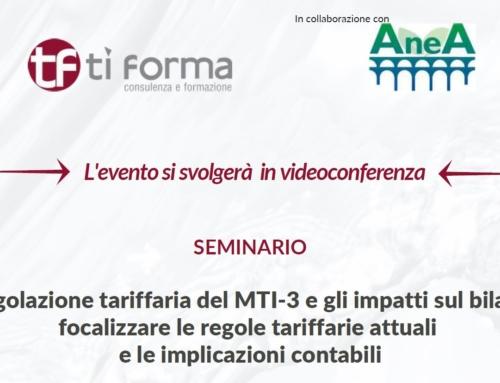 La regolazione tariffaria del MTI-3 e gli impatti sul bilancio: focalizzare le regole tariffarie attuali e le implicazioni contabili